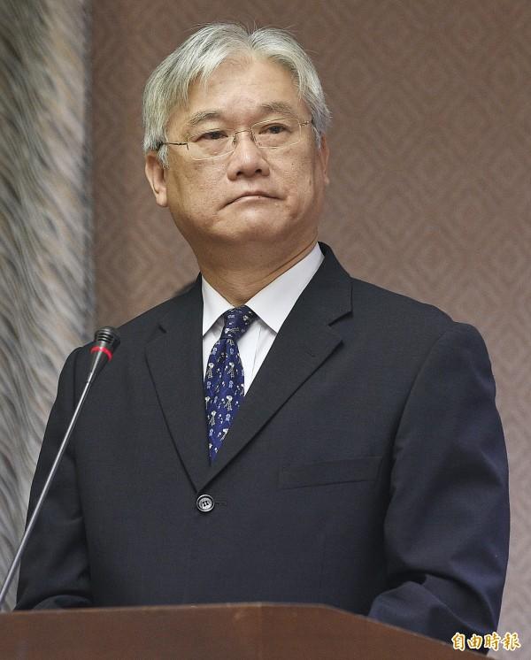 陸委會對中國設下條件表達不滿,圖為陸委會主委夏立言。(資料照,記者陳志曲攝)