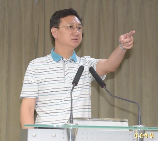 準行政院發言人童振源表示,新政府將不會缺席本屆WHA,將指派凖衛福部長林奏延參加。(記者黃耀徵攝)