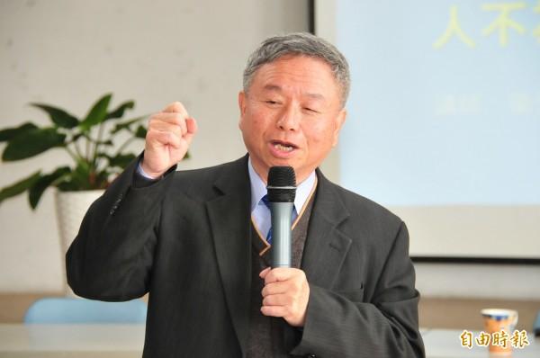 楊志良晚間受訪時建議新政府先思考抗議的方式,並呼籲勿讓「一中原則」造成台灣內部分裂。(資料照,記者李忠憲攝)