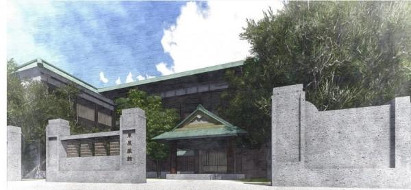 「時間親像一條河」動畫短片,重建消失的台南日治建築場景,圖為東屋旅館。(賴家紳提供)