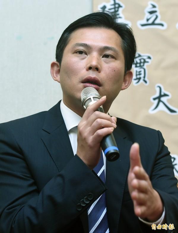 黃國昌呼籲,新任中研院長應由蔡英文任命比較適合。(資料照,記者廖振輝攝)