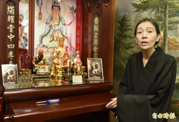 許純美今天召開記者會,表示她先前臥病在床4個月!(資料照,記者陳奕全攝)