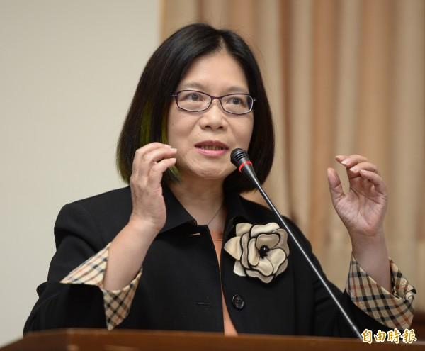 綠委管碧玲表示,WHA邀請函的一中原則是根據聯合國2758號決議,但事實上決議文當中並沒有涉及台灣是否歸屬中國,所以她強調台灣人的未來不是中國人說了算!(資料照,記者林正堃攝)