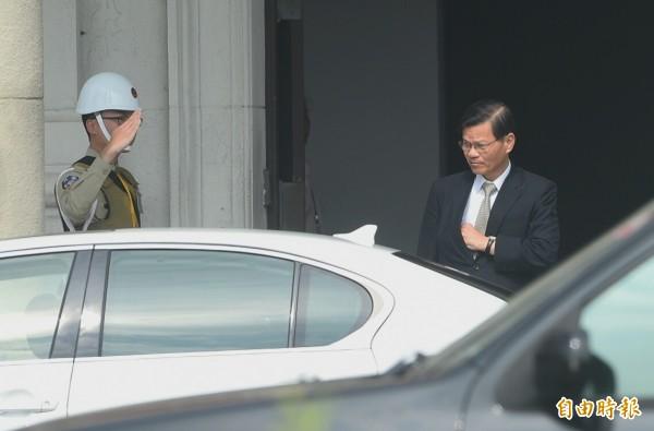 中研院長翁啟惠曾在25日進入總統府,面見馬英九總統,就浩鼎案提出報告,雙方會談約一小時。(資料照,記者張嘉明攝)