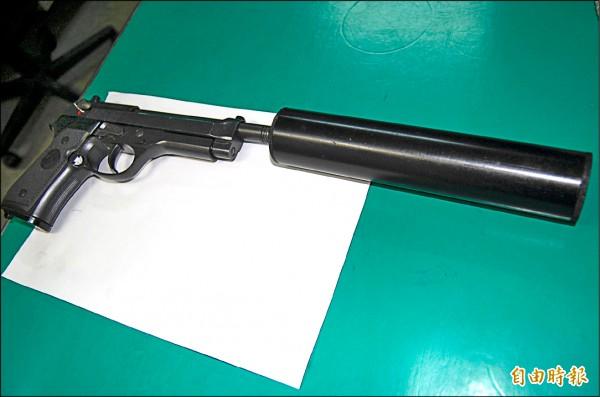 執行槍決死刑犯的槍枝皆有加裝滅音器。(資料照,記者楊國文攝)