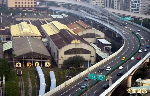 歷史悠久的鐵道車輛基地「台北機廠」已指定為國定古蹟。(資料照,記者張嘉明攝)