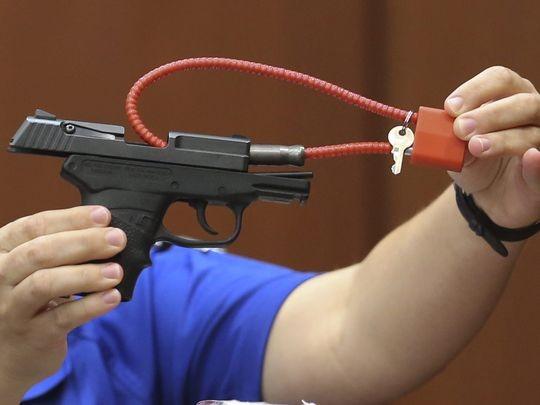 美國佛羅里達州的鄰里巡守員齊默曼(George Zimmerman),在2012年2月開槍打死17歲黑人青年馬丁(Trayvon Martin)的槍枝,竟被競標到6500萬美元(約新台幣21億元)。(圖擷自《今日美國》(USA Today))