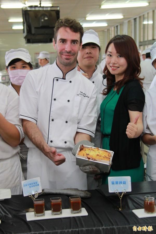 比利時帥哥主廚布萊斯.德柏科覺得台灣人人都有美食基因。(記者陳冠備攝)