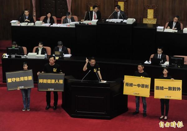 WHA代表團即將出發,時代力量黨團今召集藍、綠協商卻破裂,立院共同聲明恐怕無法在5月23日代表團出發前提出。(資料照,記者王藝菘攝)