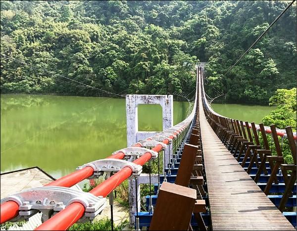 復興區新溪口吊橋全長303公尺,預計年底啟用。 (市議員楊朝偉提供)