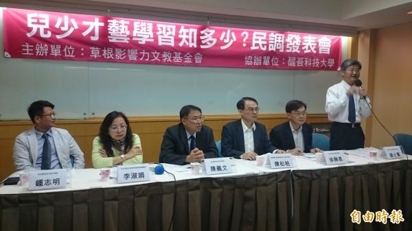 草根影響力文教基金會近日民調,發現台灣家長多忙工作,有7成把孩子送入學科或術科補習,每月平均花費5500元。(記者吳柏軒攝)