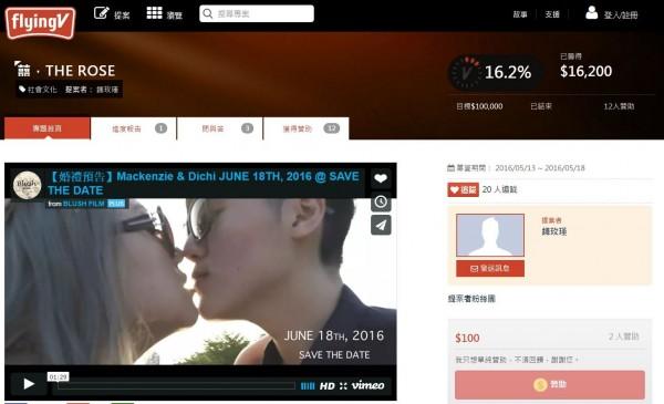 一對女同志為籌備婚禮在網上募款,引發網友批評,讓她們決定關閉專案。(圖擷自《FlyingV》)
