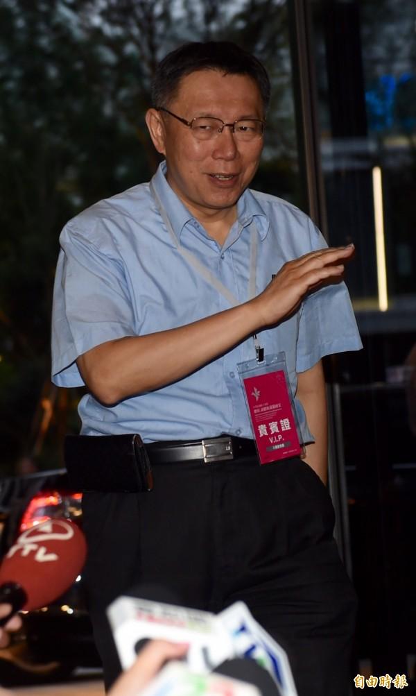 台北市長柯文哲出席總統就職國宴。(記者簡榮豐攝)