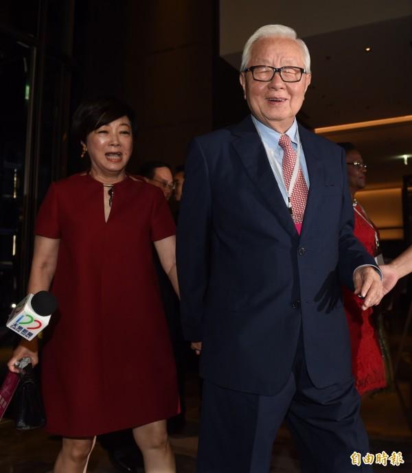 第十四任總統、副總統就職國宴20日在台北萬豪酒店舉行,台積電董事長張忠謀伉儷出席。(資料照,記者簡榮豐攝)