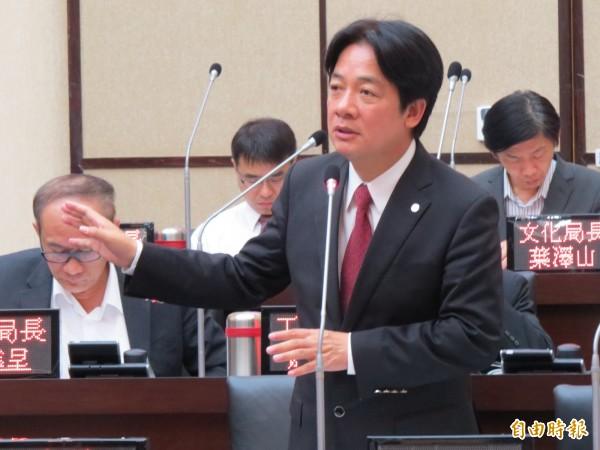 賴清德說,過去國民黨外來政權要來台灣統治,一定要在法理上取得證據,所以會去運用開羅宣言。(記者蔡文居攝)