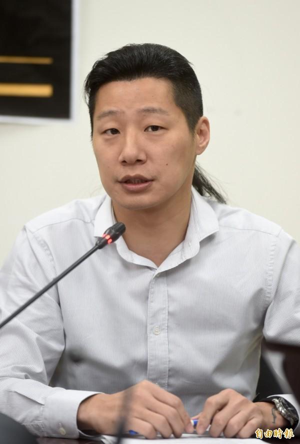 時代力量立委林昶佐隨台灣代表團出席WHA。(資料照,記者簡榮豐攝)