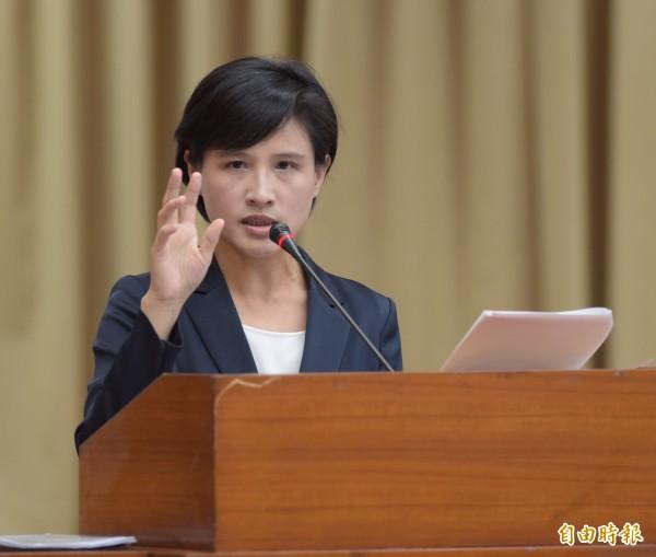 新任文化部長鄭麗君23日首度至立法院教育文化委員會報告並備詢。(記者黃耀徵攝)