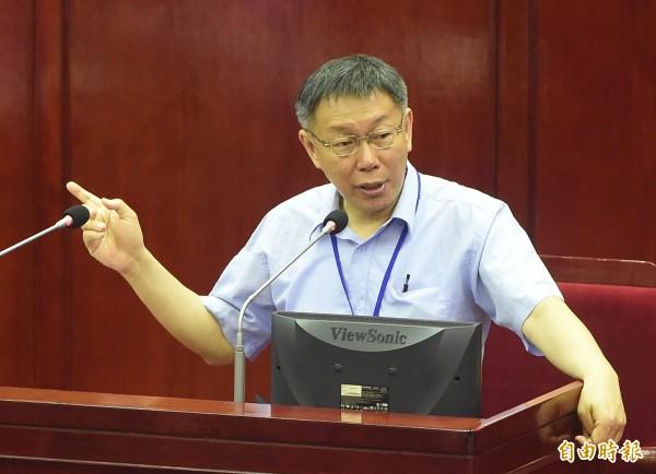 遠雄表示,若要走司法程序,在柯P任內不會有結果。(記者廖振輝攝)