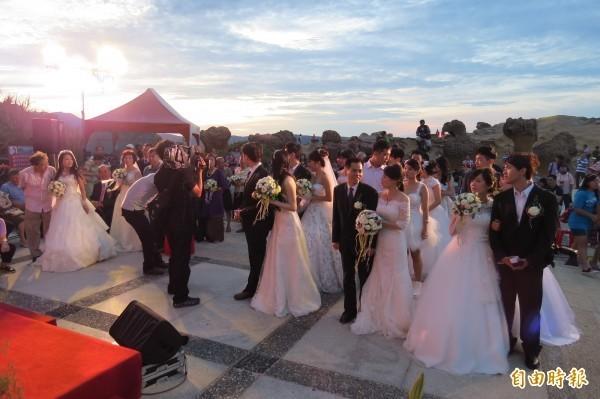 婚禮示意圖,與文無關。(資料照,記者俞肇福攝)