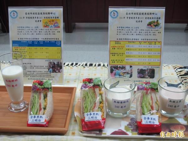 圖為北市北投區健康服務中心推出學童健康早餐DIY,營養滿分,熱量不超標。(資料照)