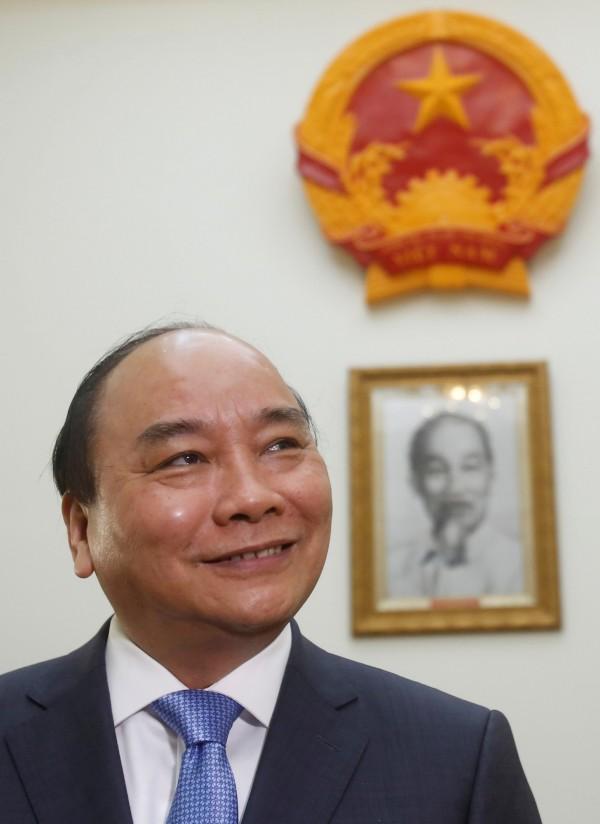 越南總理阮春福(Nguyen Xuan Phuc)在接受媒體訪問時稱,越南愛好和平,不會在南海擴充軍力。(路透)