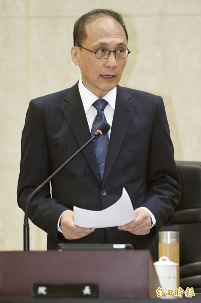 行政院長林全昨首次主持行政院會。(記者陳志曲攝)