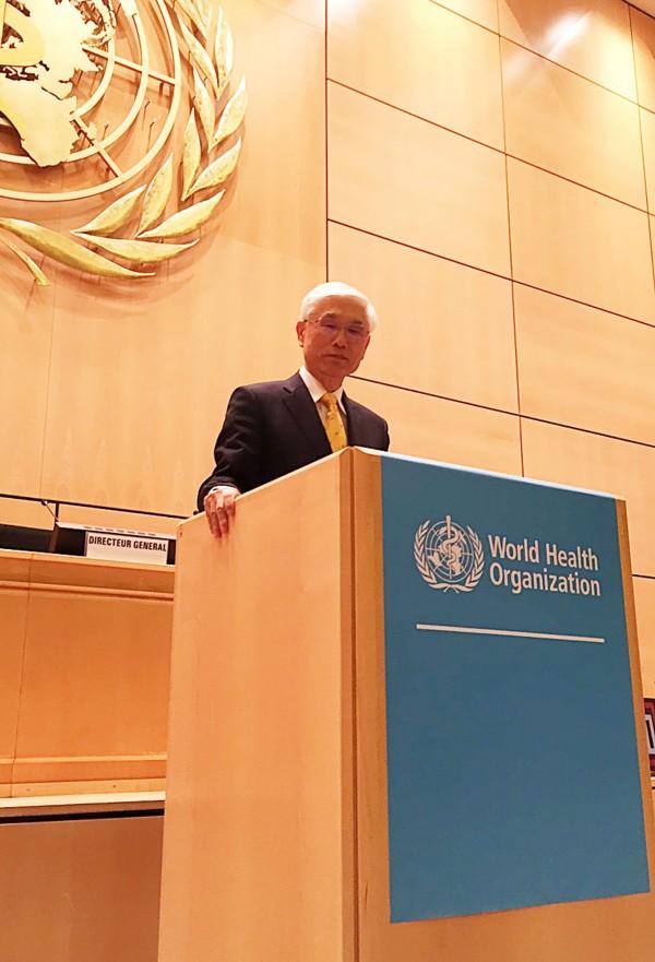 衛福部長林奏延於WHA演說時脫口說出「中華台北」,引發批評。(資料照,中央社)