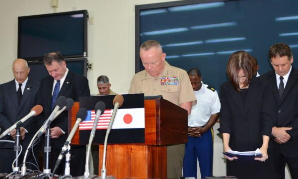 美國軍方向日本表達哀悼之意,並實施為期1個月的飲酒禁令。(美聯社)
