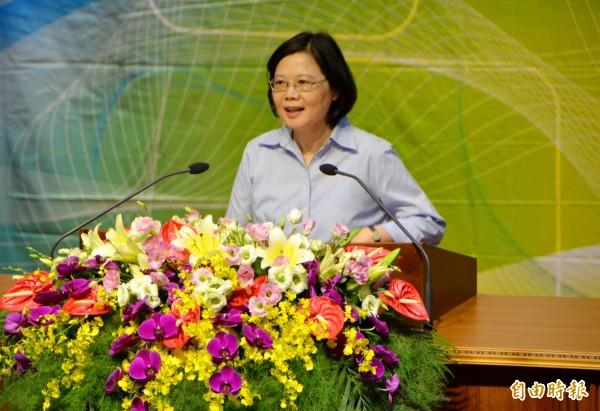 學者認為,蔡英文已在兩岸立場上做出調整,呼籲中國不要自找麻煩。(資料照,記者陳鳳麗攝)