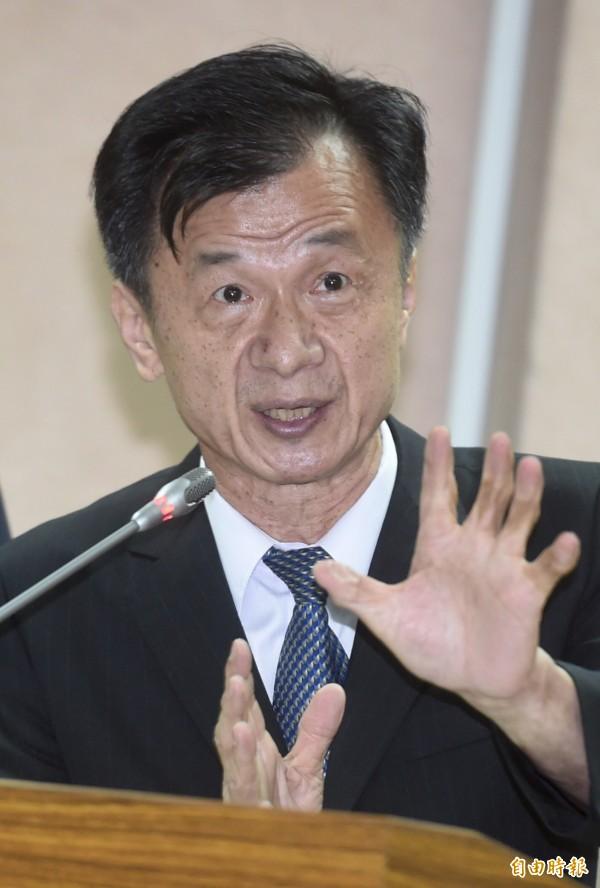 法務部長邱太三中午在立院司法及法制委員會表示,他支持訂定同性伴侶法。(資料照,記者簡榮豐攝)