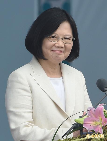 台灣指標民調調查,對蔡英文總統的執政表現50.2%滿意、16.3%不滿意。(資料照,記者廖振輝攝)