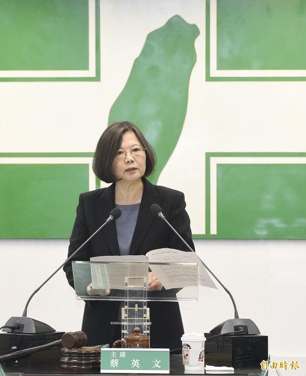 總統蔡英文被中國方面認為在搞「緩獨」。(資料照,記者陳志曲攝)