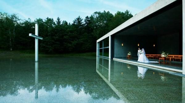 建築大師安藤忠雄設計的「水之教堂」。(圖擷取自網路)