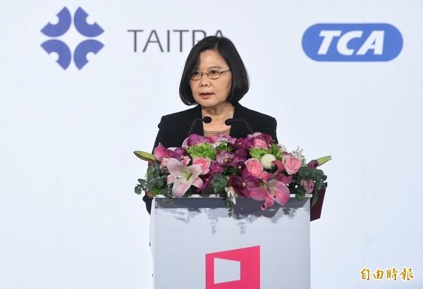 蔡英文總統31日出席臺北國際電腦展開幕典禮。(記者張嘉明攝)