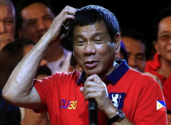 有「東方川普」之稱的菲律賓準總統杜特蒂在當選後,似乎有意改善與中國因南海問題交惡的兩國關係。(路透)