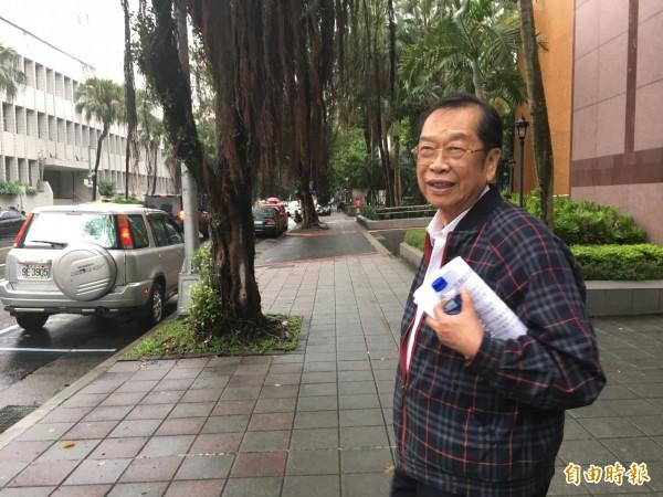台北地院審理幸福人壽掏空案,前董事長黃正一到庭。(記者張文川攝)