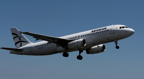 清潔工以為愛琴海航空公司的航班遭遇炸彈威脅,事後才知道是虛驚一場。圖為資料照。(路透)