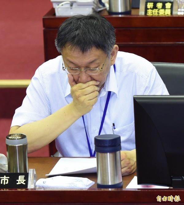 台北市長柯文哲是SOP(標準作業程序)狂,凡事都會設置一定程序。(記者簡榮豐攝)