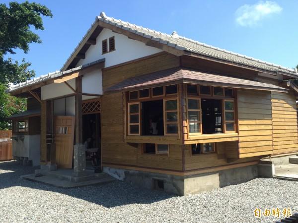 民權里日式宿舍己修繕完成。(記者張存薇攝)