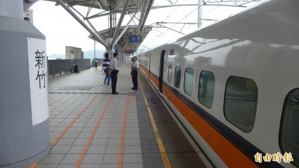 台灣高鐵公司今天晚間6點10分在官方網站上宣布,高鐵新竹車站晚間出現道岔訊號異常的狀況。(資料照,記者王駿杰攝)