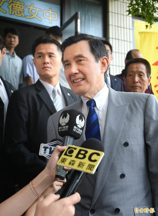 前總統馬英九被控涉大巨蛋等3大案。(資料照,記者方賓照攝)