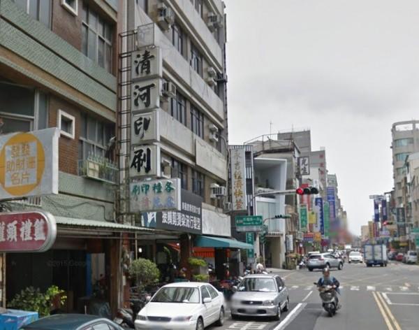 台南的清河印刷行。(圖片擷取自Google map)