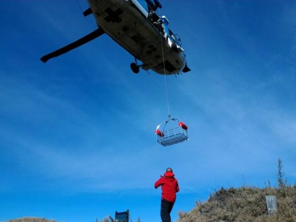 山區天候不佳,直升機起飛不久便返航,示意圖,與本新聞無關。(資料照,記者李忠憲翻攝)