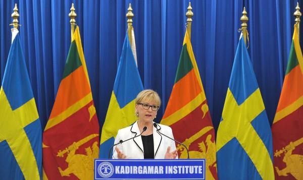 瑞典外交部長瓦爾斯特倫(Margot Wallstrom)警告,英國脫歐將導致歐盟解體。(法新社)