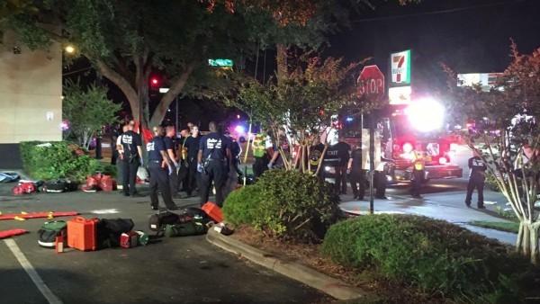 美國佛羅里達州奧蘭多一間同志夜店「Pulse Club」今日遭一名男子持槍進入夜店亂槍掃射,奧蘭多警方稍早證實,初步了解約20死。(歐新社)