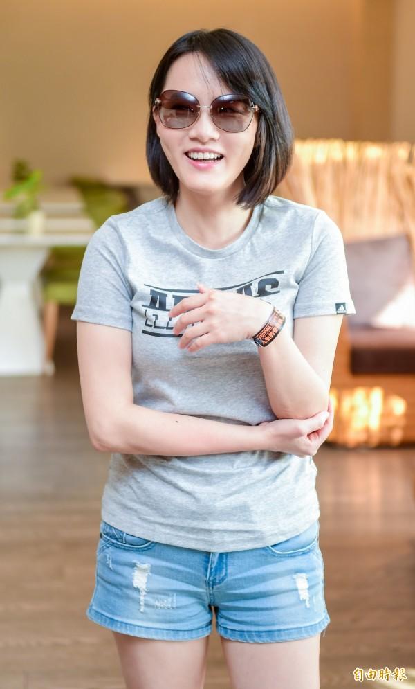閃靈樂團Doris葉湘怡表示,他們一向自稱來自台灣。(記者王文麟攝)