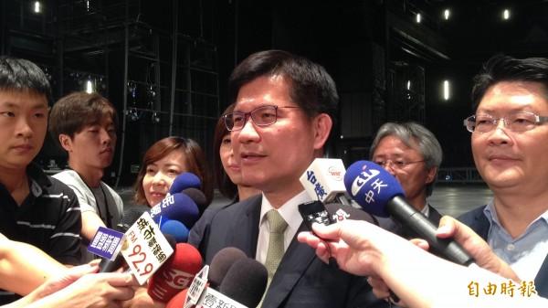文化平權不能僅有台北觀點,林佳龍爭取國表藝董事會改組。(記者蘇孟娟攝)