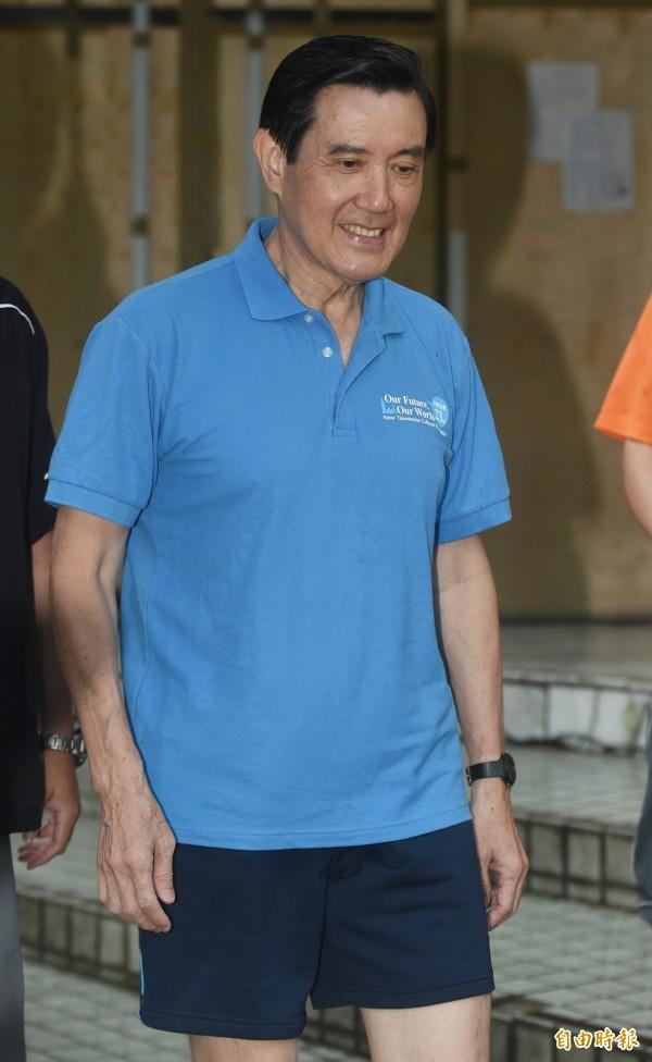 今早馬英九在運動前接受媒體訪問,他向總統府提出三個問題。(資料照,記者廖振輝攝)