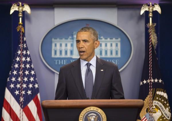 美國總統歐巴馬對佛州夜店血案發表聲明。(美聯社)