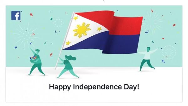 臉書於12日發布貼文祝菲律賓人民獨立日快樂,但當天卻將國旗上下顛倒,原本在下方的紅色變成在上方,而根據菲律賓法律,只有在國家發生戰爭時,才會將國旗顏色上下顛倒。(圖擷自推特)